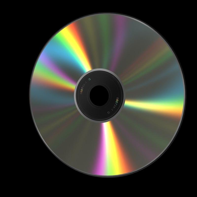 cd dvd 3d model
