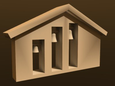 3d model country belfry