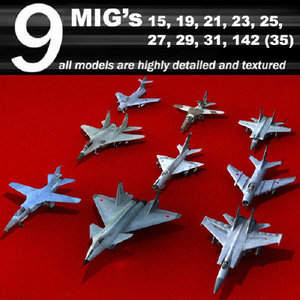 mig airplane fighter 3d model