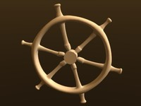rudder pirates ship 3d model