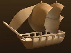 3ds max pirate ship