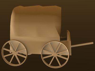 3d model of cart pioneers