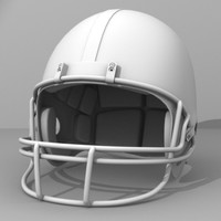 3d football helmet model