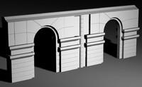 roman arch 3d 3dm