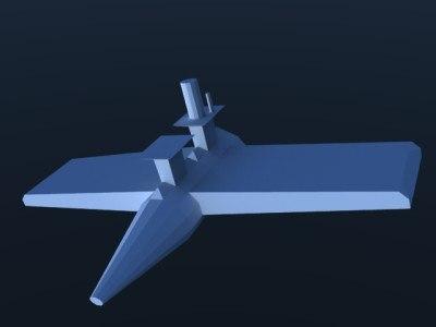 3d airplane mars model
