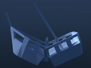 3d 3ds crash ship