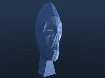 face death 3d model