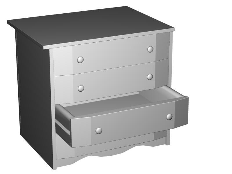 chest draweres 3d 3dm