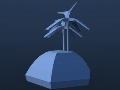 3d model island palms