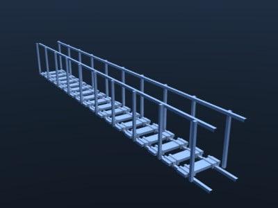 suspension bridge 3d 3ds
