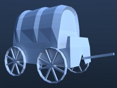 cart west 3d model