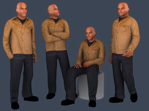 3d model people - corey