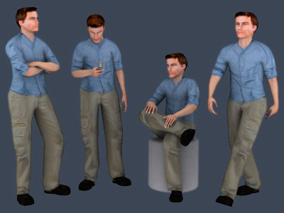 3ds max people - harold