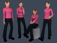 3d max people - emily