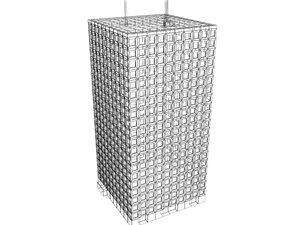 3d model of skyscraper buildings
