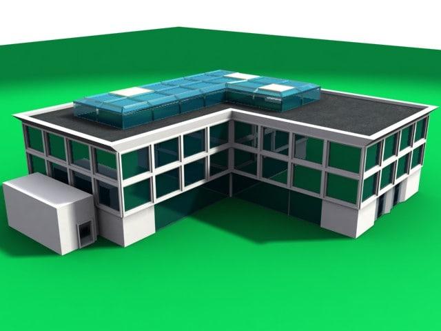 3d house condo building model