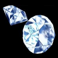 3d diamond precious stone model