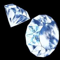 3d diamond precious stone