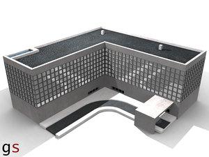 hotel building condo 3d 3ds