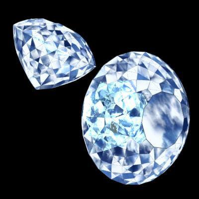 3d model of diamond precious stone