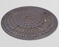 3d model man hole manhole