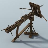 medieval ballista 3d model