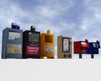 newspaper boxes 3d model