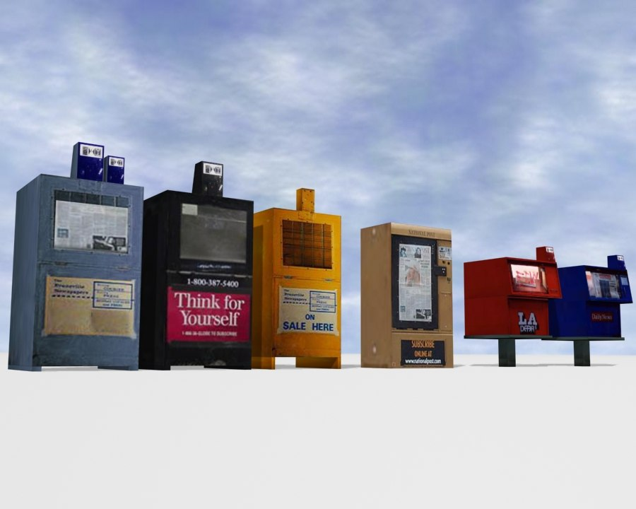 newspaper boxes 3d model