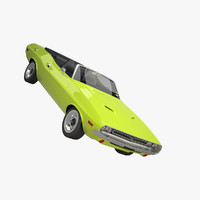 dodge challenger 71 convertible 3d model