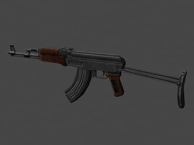 3d model ak47 shorty