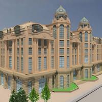 russia hotel building exterior 3d model