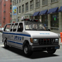 police van nypd 3d model