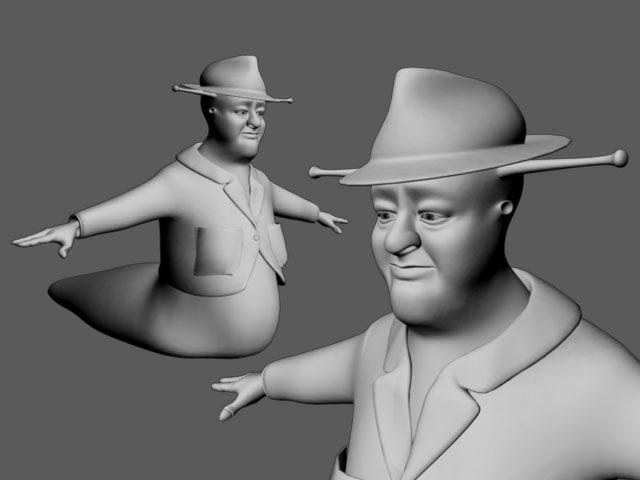 3d slug character model