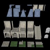 3d model of modular building doofblox