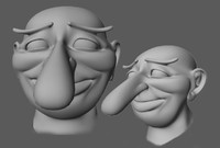 nosed head 3d model