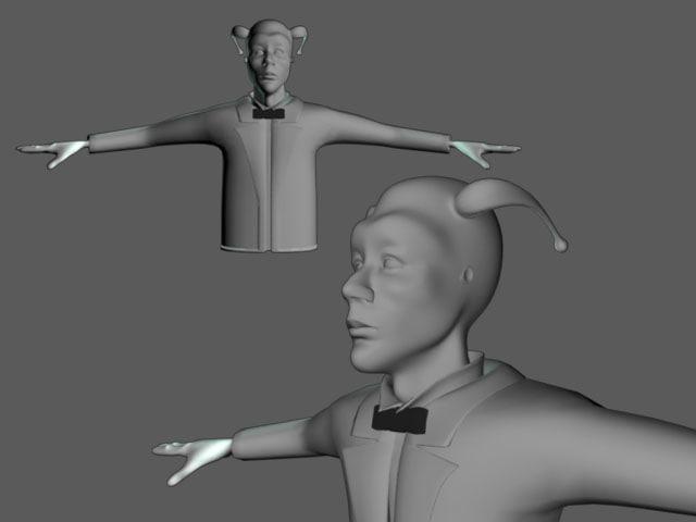 3d torso character human