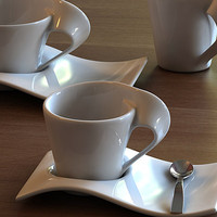 3ds max porcelain cups