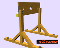 pillory punishment 3d model