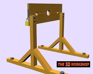 pillory punishment 3d model