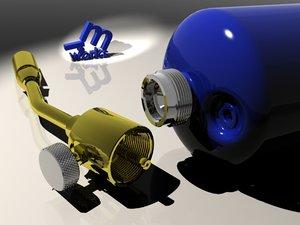 3d model propane torch