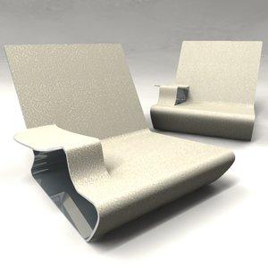 3d model chair surface design