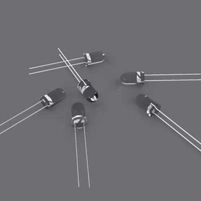 3d model led light diodes