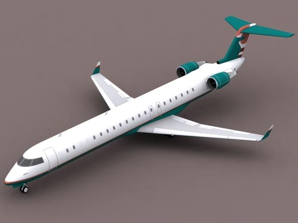 3d model of canadair regional jet