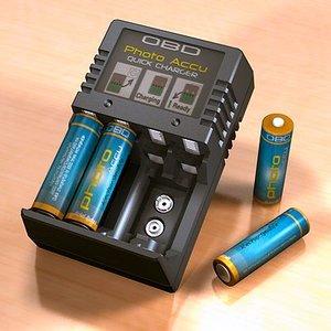 accucharger batteries c4d