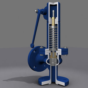 3d model valve safety modeled