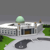 parliament building russia exterior 3d model
