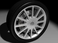 3ds car wheel tire