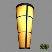 sconce lamp 3d 3ds