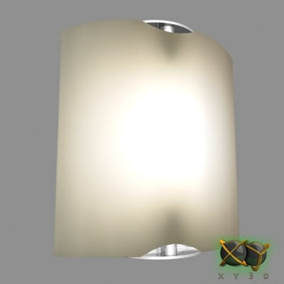 wall sconce lamp 3d max