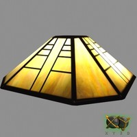 3d max stained glass lamp shade